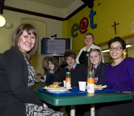 St John Fisher High School measures up for £10K canteen make over