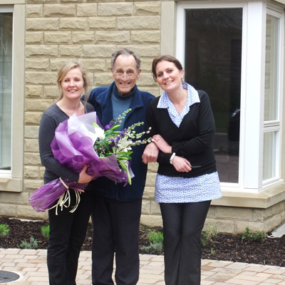 Lucy Bowman, Norman Brown, Care Team Manager Jill McManus