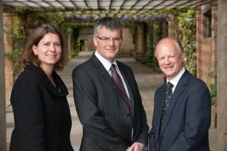 Partners Alison Robinson, Martin Holden and Chris Adams