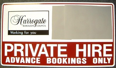 Licensed Private Hire Vehicle - door sign