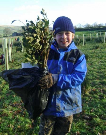 Pupils plant trees to offset carbon emissions from school run