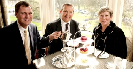 Jonathan and Lesley Wild take tea with Andrew Baker