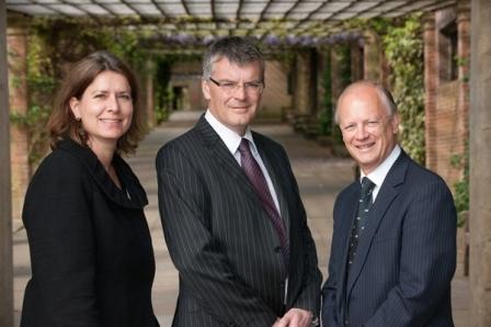 Partners Alison Robinson, Martin Holden and Chris Adams