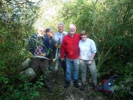 Volunteers clear popular footpath in Ripon