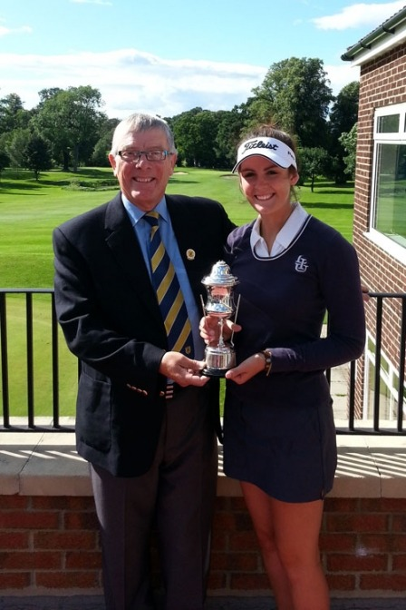 James King, Golf Manager at Rudding Park with Alice Boothroyd